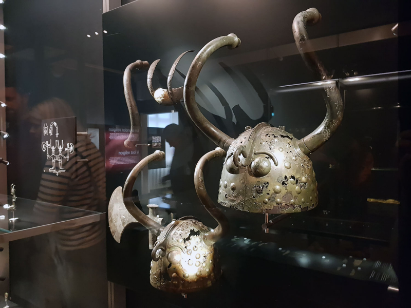 Viking helmets at the National Museum, Copenhagen