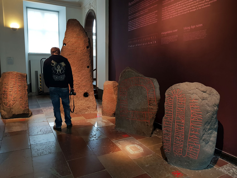 Rune stones at the National Museum, Copenhagen