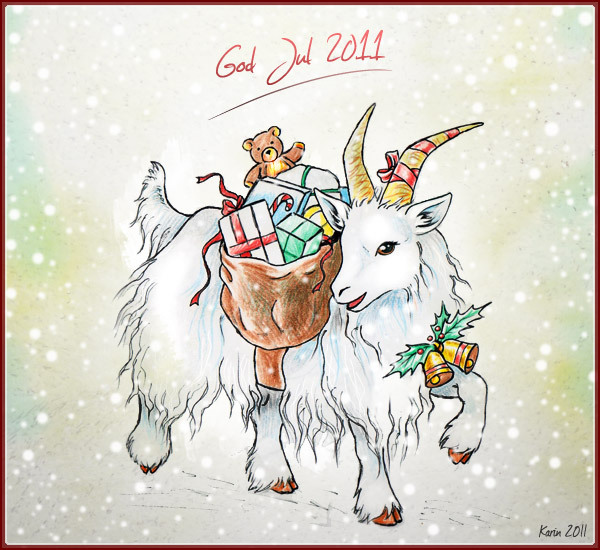 Imaginary Karin - Christmas goat drawing