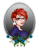 Imaginary Karin - pixel doll flower frame