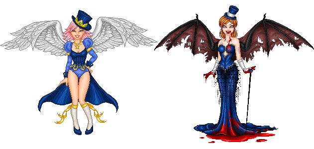 Imaginary Karin - pixel doll angel and demon