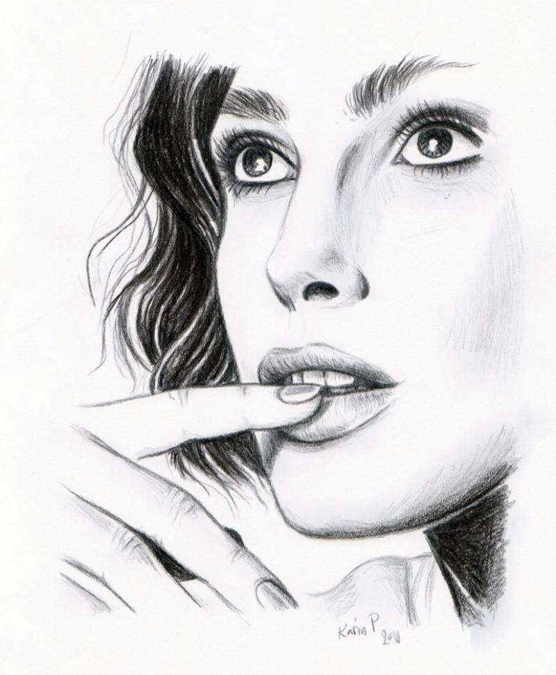 Imaginary Karin - Keira Knightley drawing