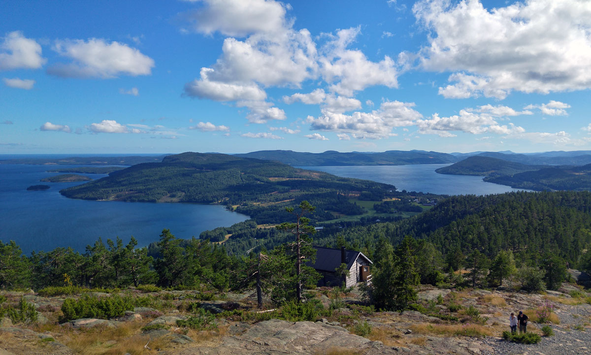 Imaginary Karin - view from the top of Skule mountain