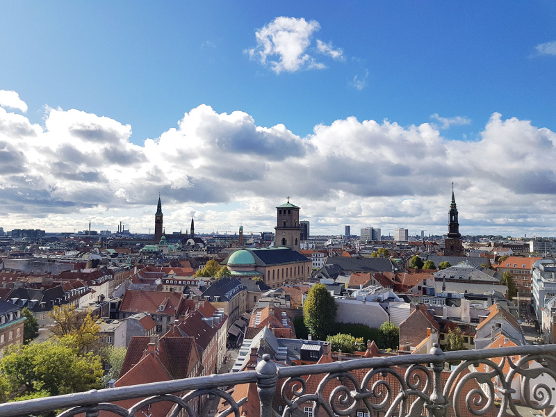View from top of the Round Tower, Copenhagen