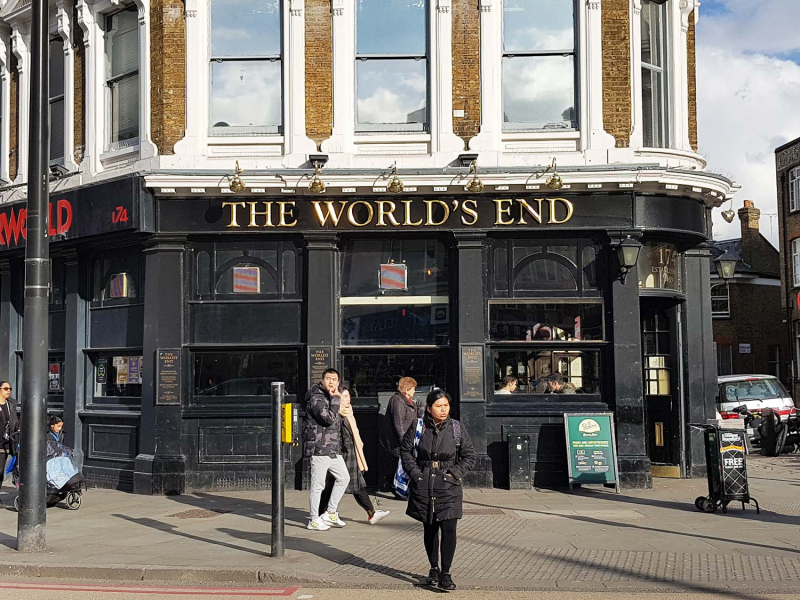 The World's End pub in Camden Town, London