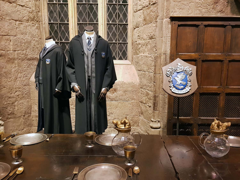 Ravenclaw costumes at the Harry Potter Studio tour