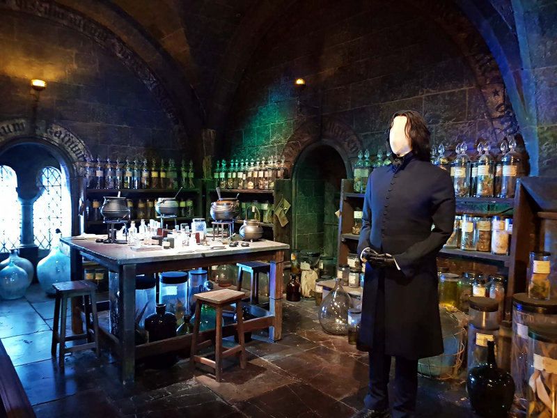 Snape's classroom at Harry Potter Studio Tour