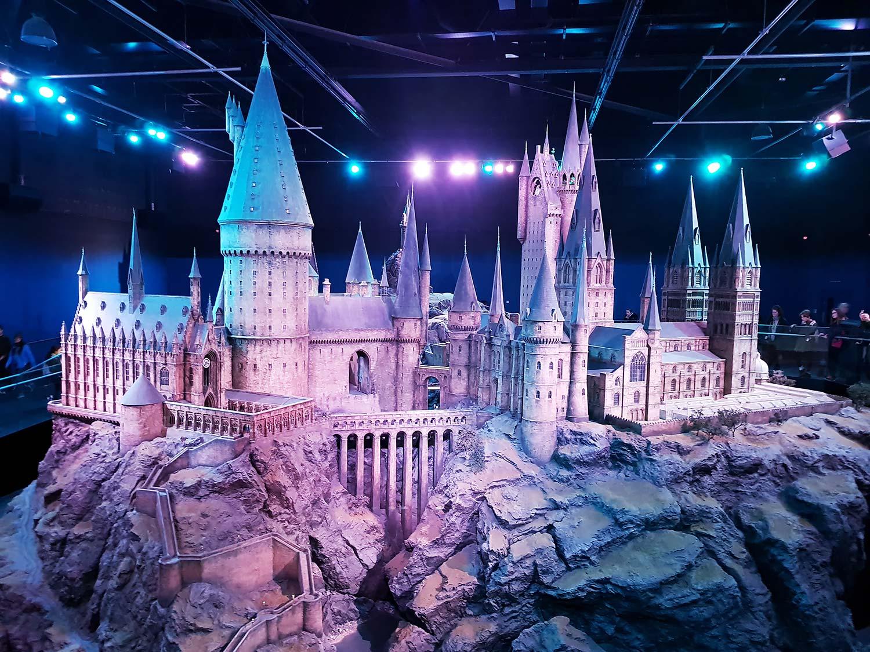 Hogwarts model at Harry Potter Studio Tour