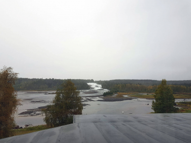 Storforsen in the rain