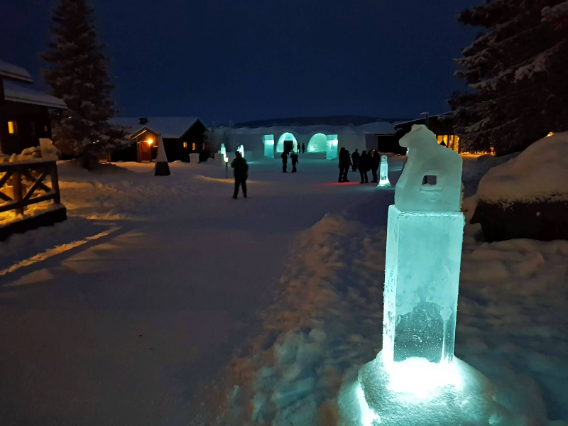 outside Icehotel Sweden