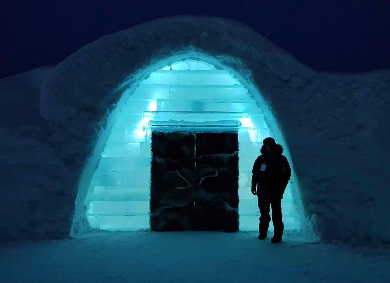 Icehotel Sweden entrance