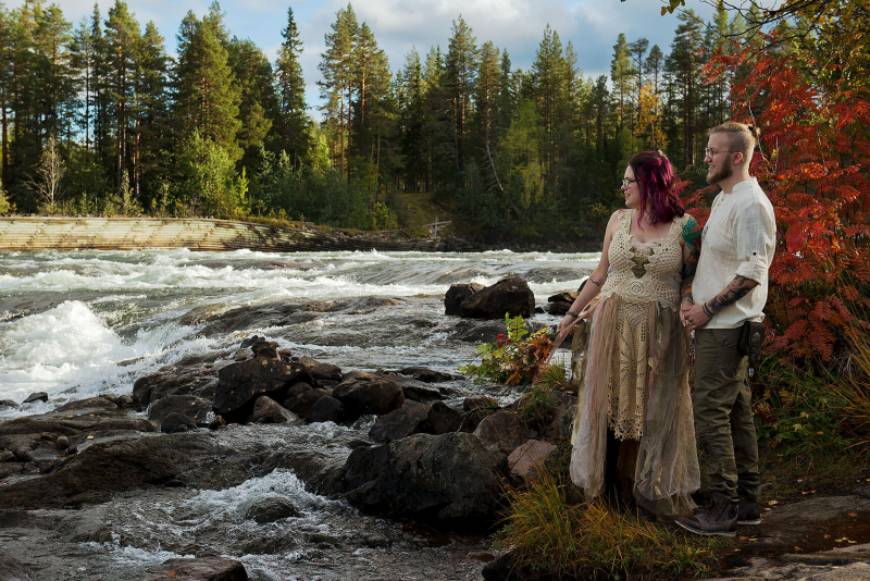 Wedding photo of Markus and I by the river