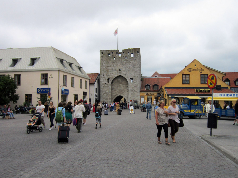 Eastern gate of the city of Visby, Gotland