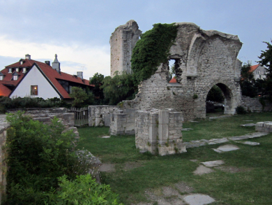 Church ruin in Visby, Gotland