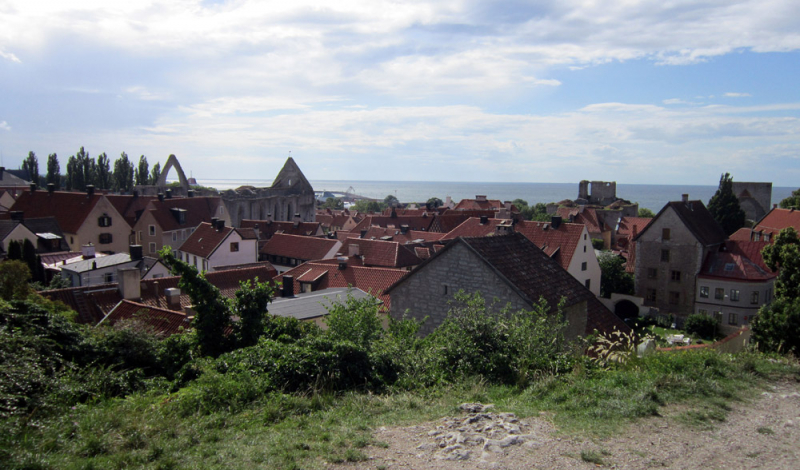 View over the city of Visby, Gotland