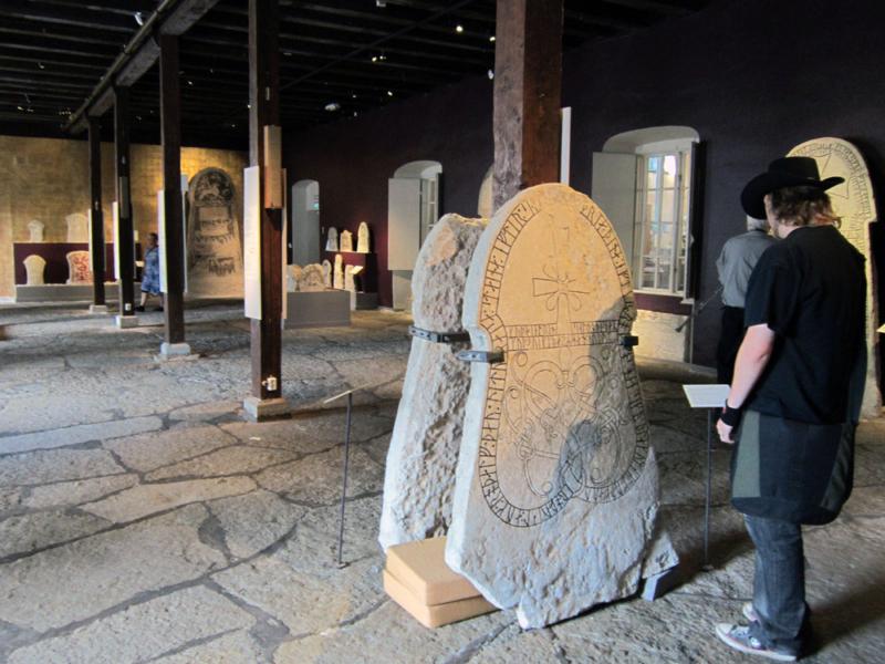 rune stones at Visby museum