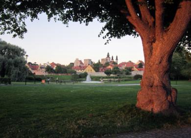 Almedalen park in Visby, Gotland
