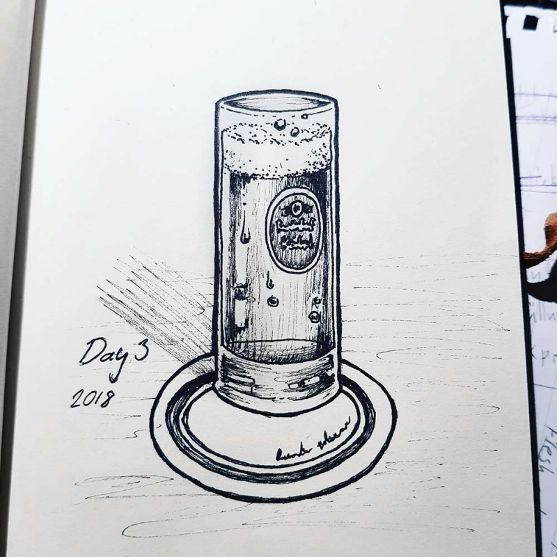 beer glass drawing