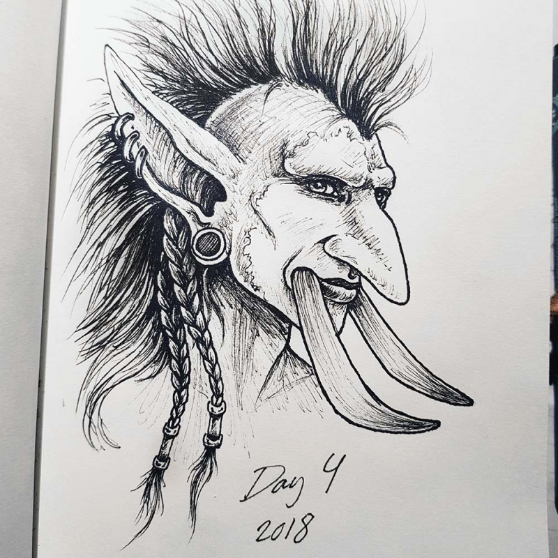 world of warcraft troll drawing
