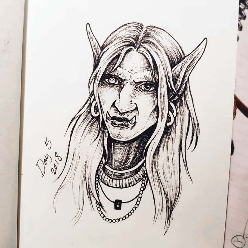 World of Warcraft troll drawing