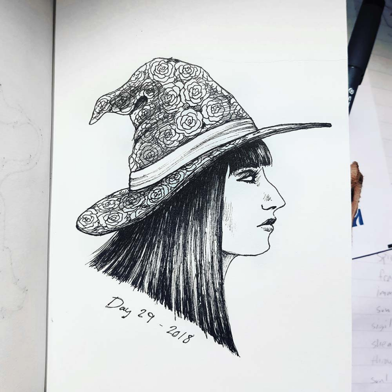 witch drawing