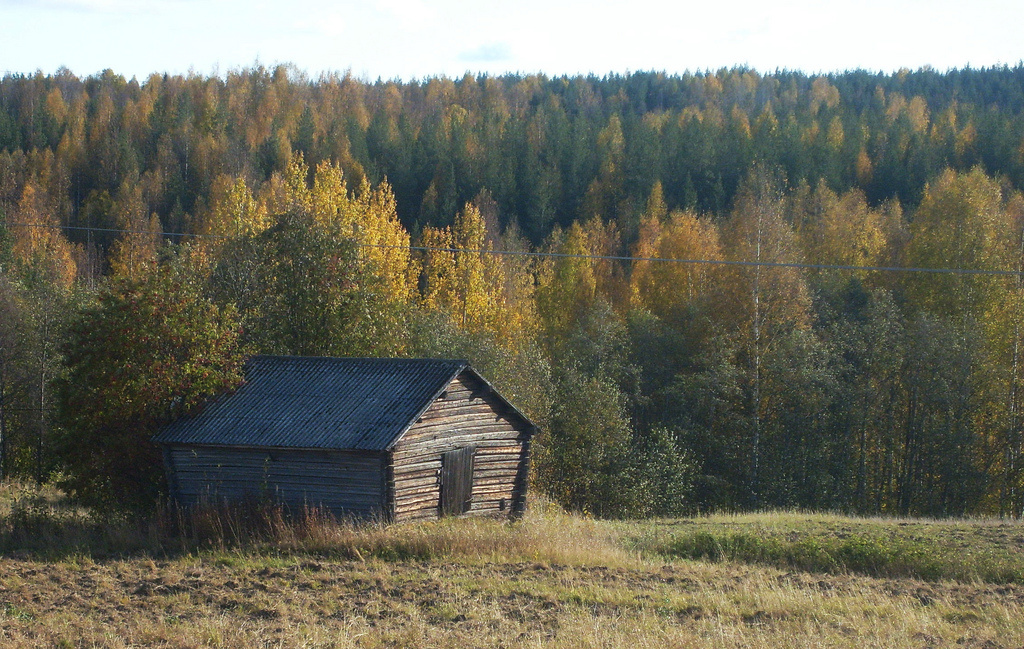 Imaginary Karin - old barn in autumn