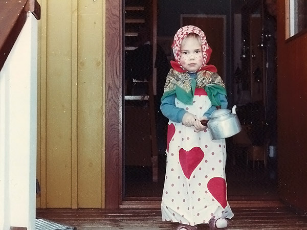 Imaginary Karin - me as an easter witch 1985