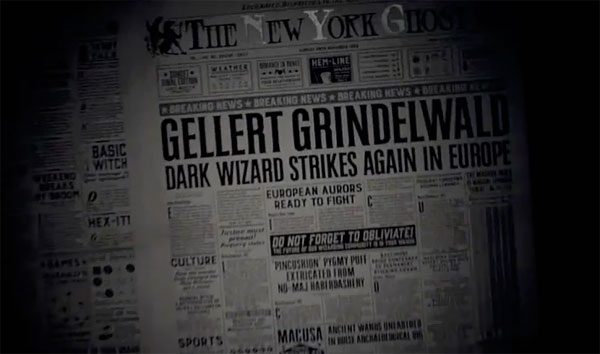 Fantastic Beasts and Where to Find Them - newspaper