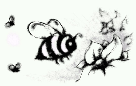 Imaginary Karin - bees drawing