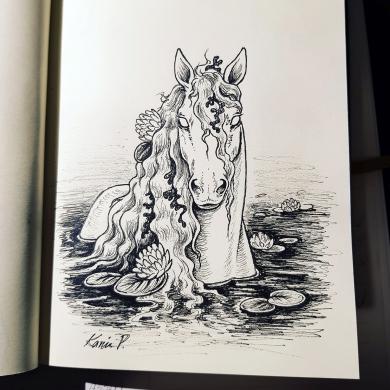 Inktober 2017 - Bäckahästen Kelpie
