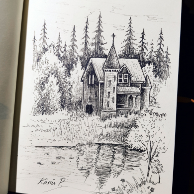 Inktober 2017 - little castle