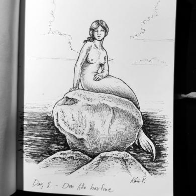 Inktober 2017 - the little mermaid